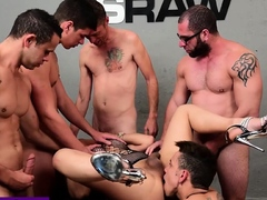 Shemale has anal sex with a dirty guys