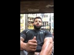 Black guy jerks off