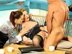 Hardcore threesome with pornstar audrianna angel