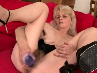 GRANNYLOVESBLACK - Evelins Hairy Bush Filled With Thick BBC