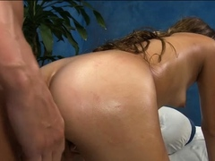 Worshipped young brunette Zoey Foxx gets body licked