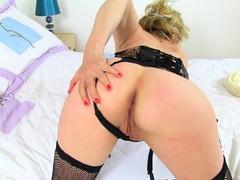 british gilf diana has a good time with her dildo