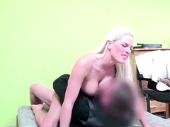 Sexy Busty Blonde Fucked by Stranger for a loan