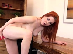 Redhead Gets Off With Sex Toys In Casting