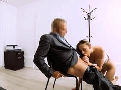 LOAN4K. Sex on a desk a perfect recipe for loan approval!