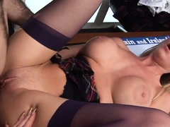 Paige Ashley Drilled Deep In All Holes After Work By Boss