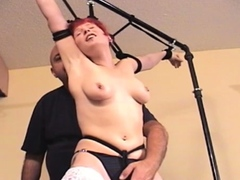 Playful chick is playing with her tight nana