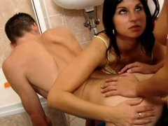 Femdoms strapon fucking submissive bf
