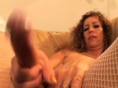 Small tits shemale gets banged in bed