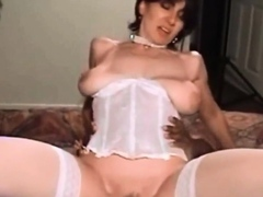 guy films girl with BBC then ebony babe shows how to do it