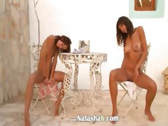 Two Latvian Chicks Naked Outdoor