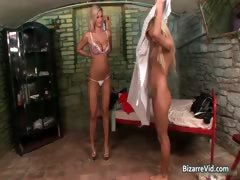 Nasty Blond Bitch Gets Cunt Inspected Part3