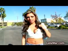 Lela Star Blowing A Guys Massive Dick Naked